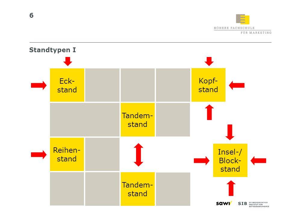 17 Das Messe-Detailkonzept Detailliertes Ausstellungsprogramm/-inhalt Architektur Standbau 1 1 Kommunikationsmittel im Detail (Kommunikationskonzept) 2 2 Kapazitätsanalyse und Personalrekrutierung/-planung 3 3 4 4 Terminplanung 5 5 Detailbudget 6 6 Standbauerbriefing