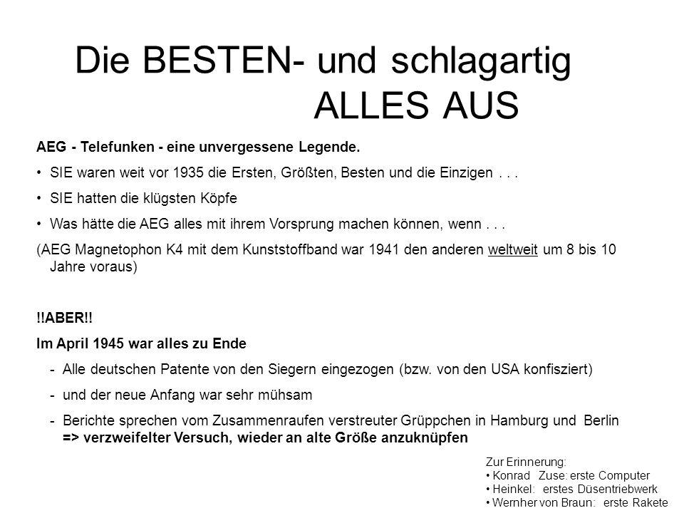 Hoch-Frequenz Vormagnetisierung Ein Zufall.Dr. Hans-Joachim von Braunmühl und Dr.