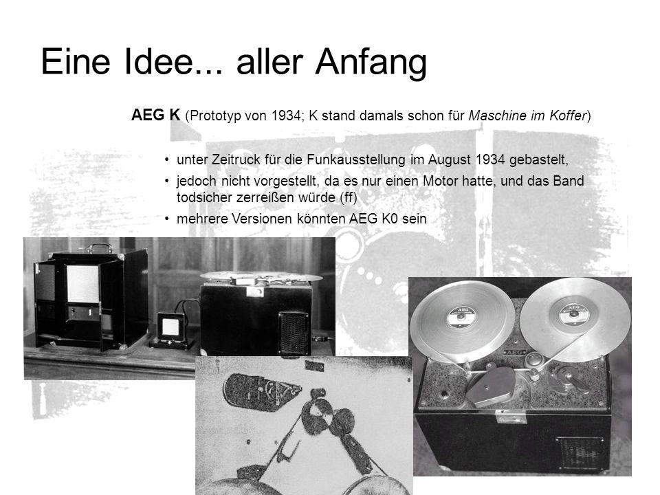 Eine Idee... aller Anfang AEG K (Prototyp von 1934; K stand damals schon für Maschine im Koffer) unter Zeitruck für die Funkausstellung im August 1934
