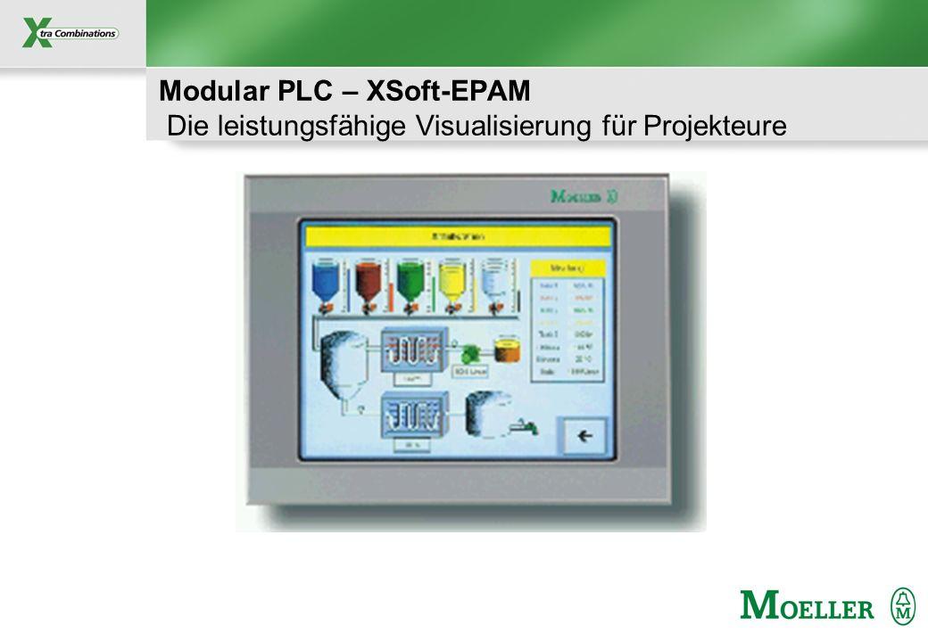 Schutzvermerk nach DIN 34 beachten Modular PLC – XSoft-EPAM Produkt- Feature (I) Visualisierung mit Excel Erstellung der Visualisierung in Excel Übersichtlich.