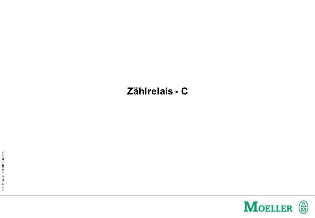 Schutzvermerk nach DIN 34 beachten Zählrelais - C