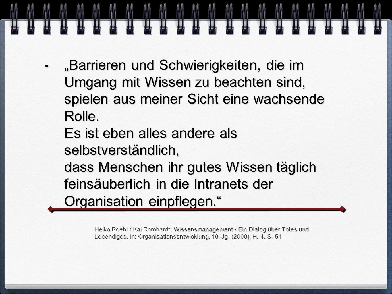 Heiko / Kai : Wissensmanagement - Ein Dialog über Totes und Lebendiges.