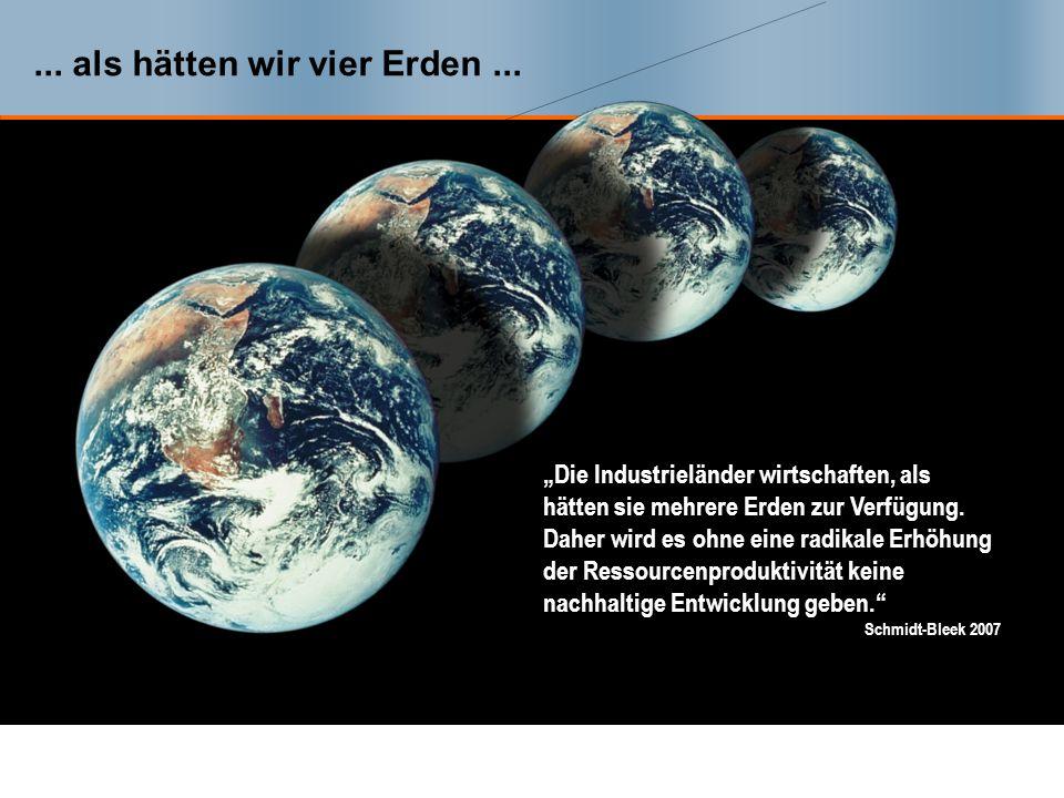 ...als hätten wir vier Erden...
