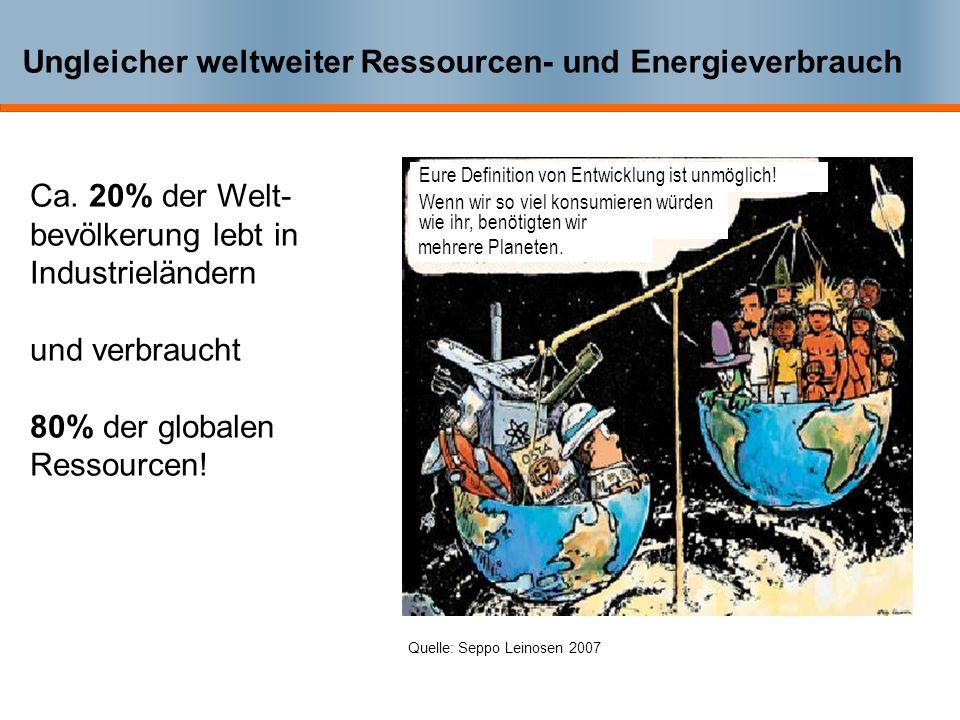 Der Naturverbrauch in Deutschland Der Naturverbrauch in Deutschland beträgt im Durchschnitt etwa 70 Tonnen pro Einwohner und Jahr, ohne Wasser und Luf