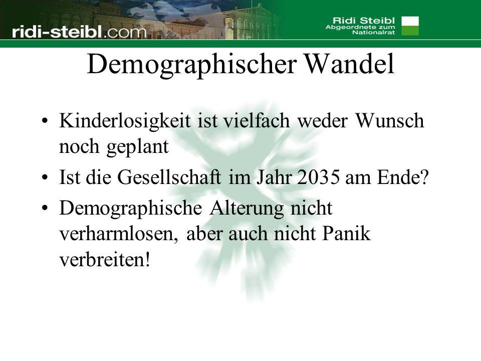 Demographischer Wandel Kinderlosigkeit ist vielfach weder Wunsch noch geplant Ist die Gesellschaft im Jahr 2035 am Ende.