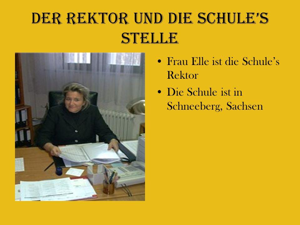 Der Rektor und Die schules stelle Frau Elle ist die Schules Rektor Die Schule ist in Schneeberg, Sachsen