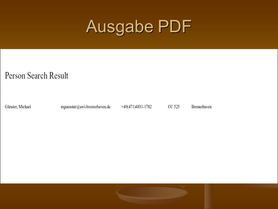 Ausgabe PDF