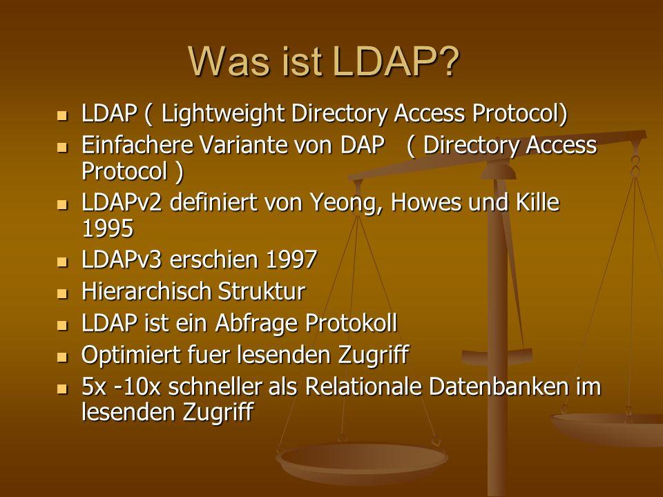Was ist LDAP.