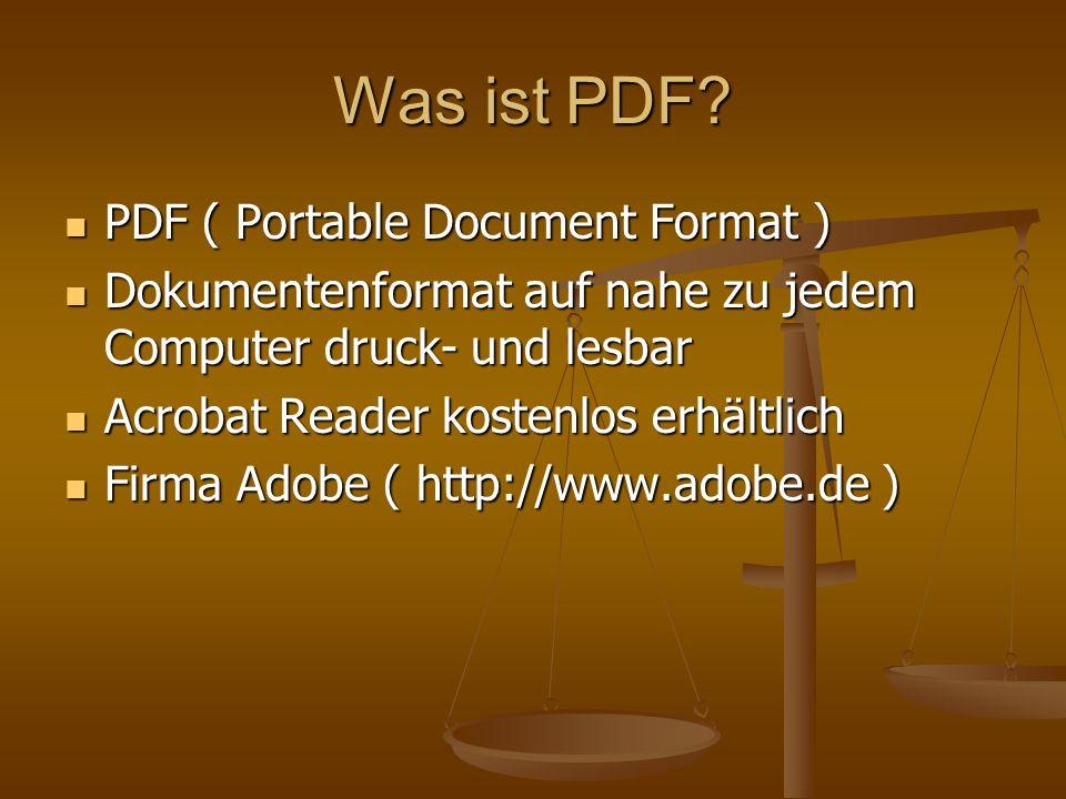Was ist PDF.