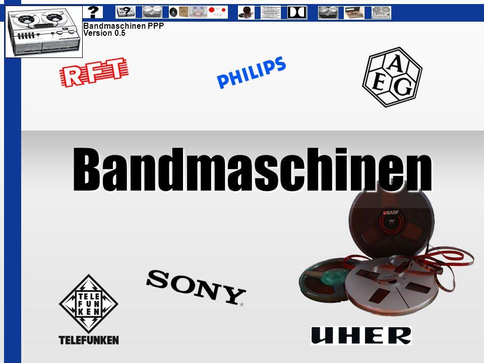 Bandmaschinen Bandmaschinen PPP Version 0.5