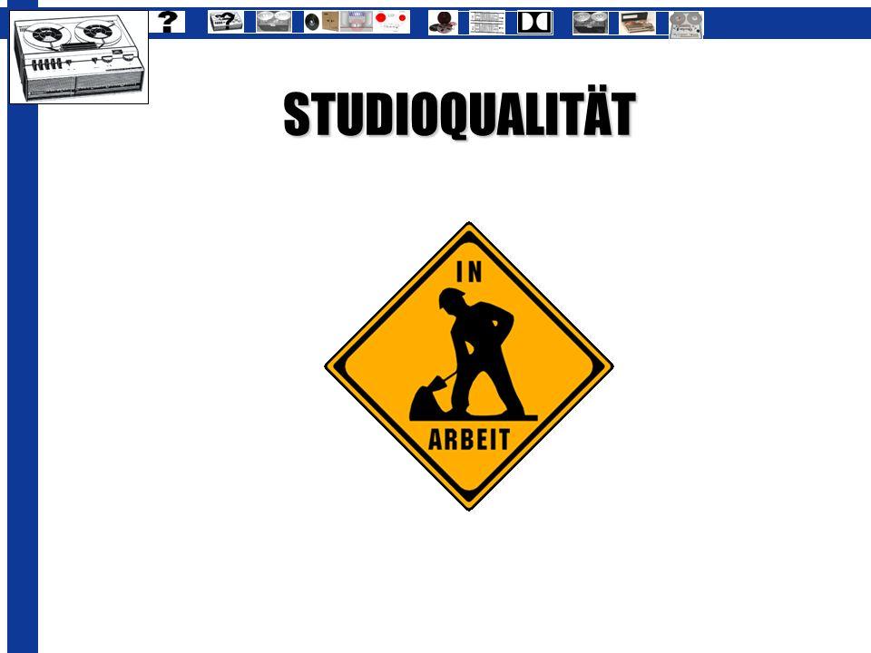 STUDIOQUALITÄT