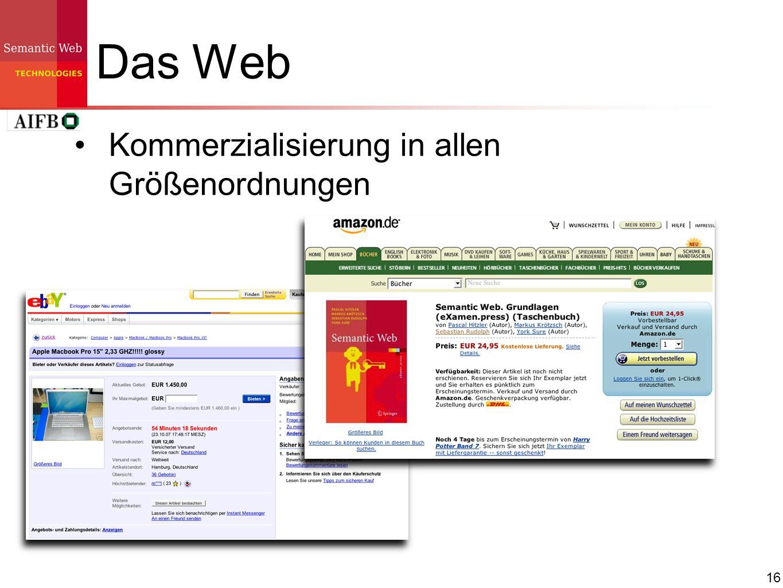 16 Das Web Kommerzialisierung in allen Größenordnungen