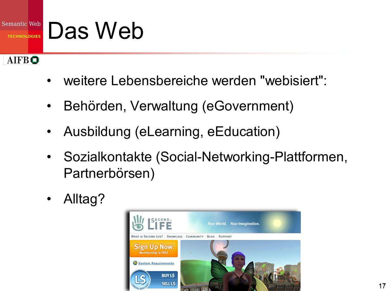 17 Das Web weitere Lebensbereiche werden