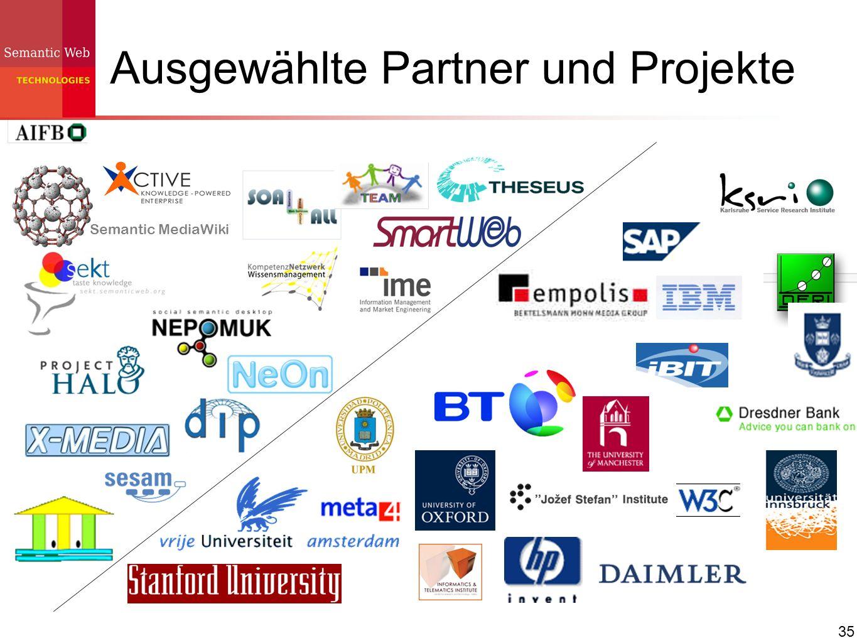 35 Ausgewählte Partner und Projekte Semantic MediaWiki