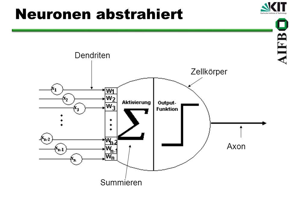 Gewichtung der Inputs Es gibt mehrere Arten der Aktivierung von Neuronen: Allen gemeinsam ist die Gewichtung der Inputs.