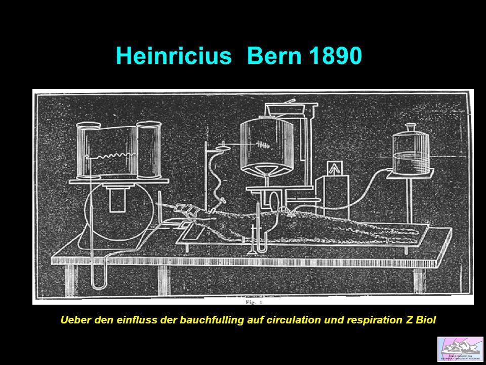 Heinricius Bern 1890 Ueber den einfluss der bauchfulling auf circulation und respiration Z Biol