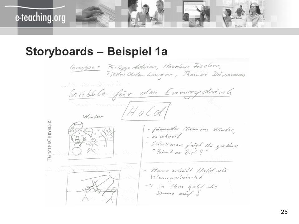 25 Storyboards – Beispiel 1a