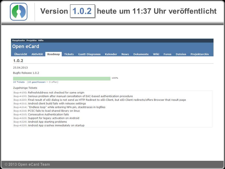 © 2013 Open eCard Team Version 1.0.2 heute um 11:37 Uhr veröffentlicht 1.0.2