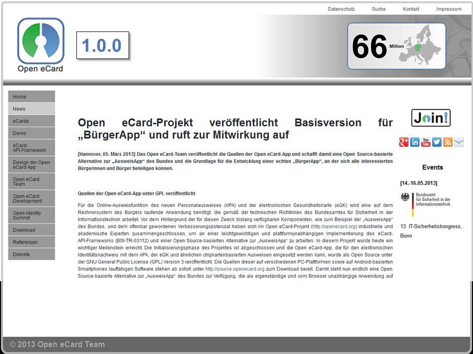 © 2013 Open eCard Team 1.0.0