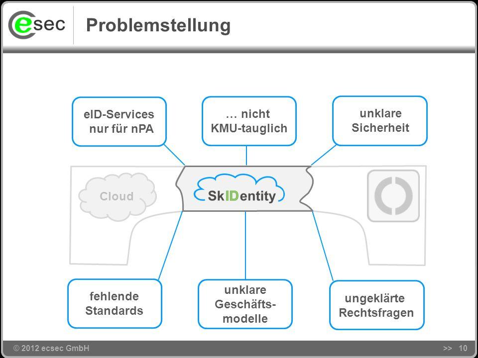 © 2012 ecsec GmbH Ziel >>9 Cloud ?