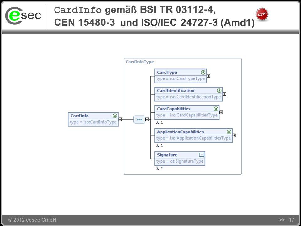 © 2012 ecsec GmbH eCard-API-Framework (BSI TR 03112)