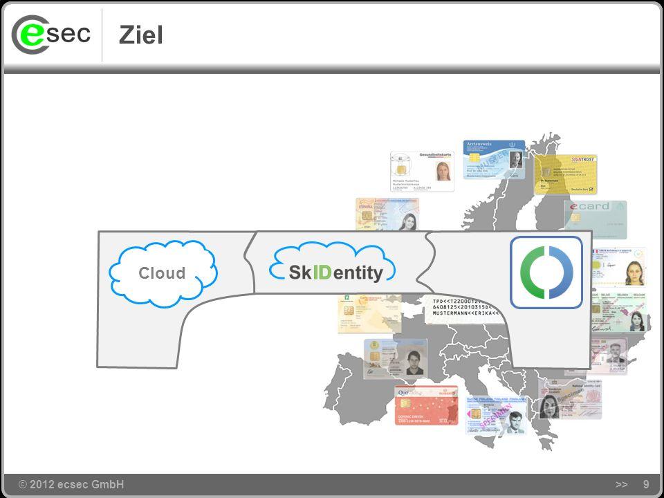 © 2012 ecsec GmbH>>29 Agenda © 2012 ecsec GmbH Motivation Ziel und Problemstellung Das SkIDentity-Projekt Kann man da mitmachen.