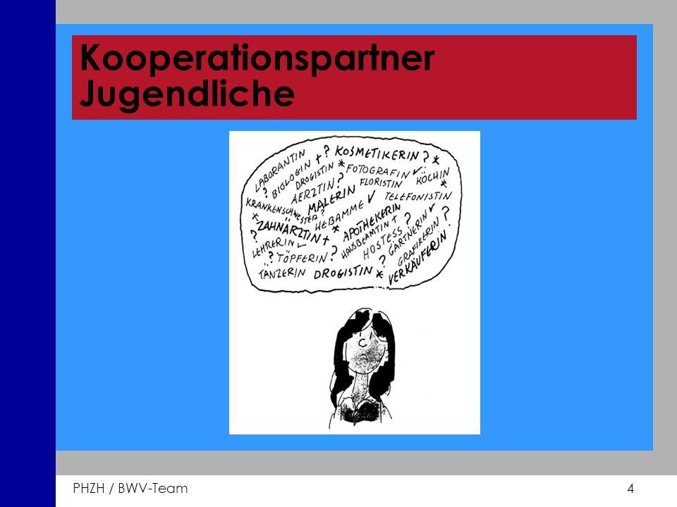 PHZH / BWV-Team 4 Kooperationspartner Jugendliche