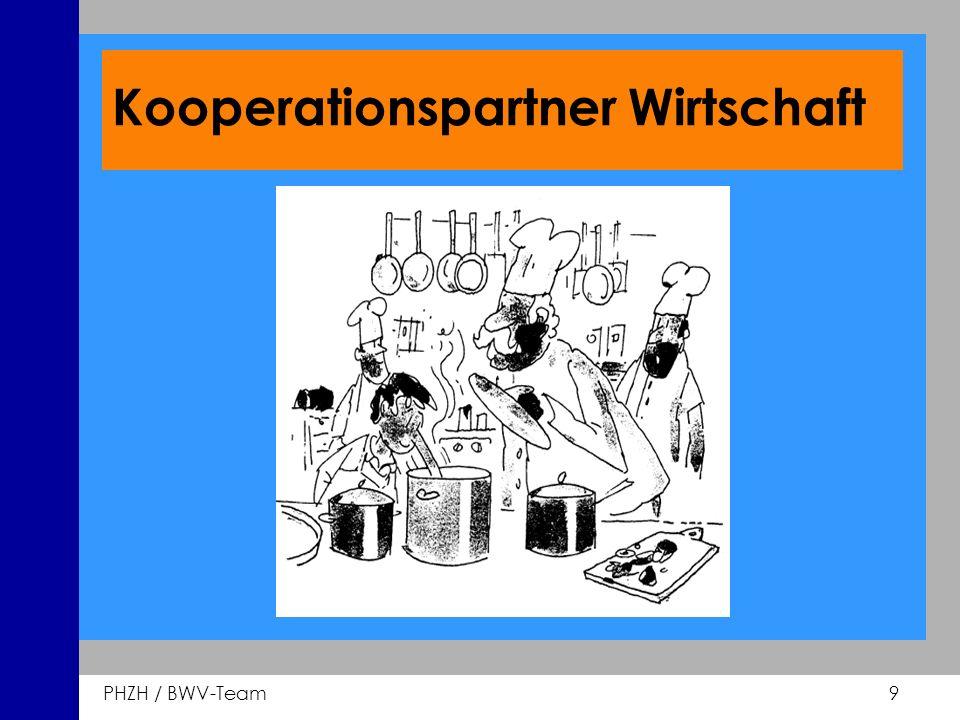 PHZH / BWV-Team 9 Kooperationspartner Wirtschaft
