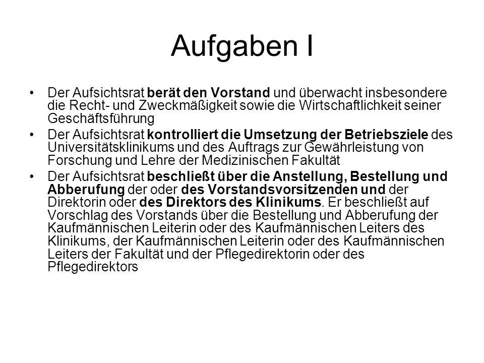 Aufgaben II § 11 (4) Der Zustimmung des Aufsichtsrats bedürfen weiterhin: –….