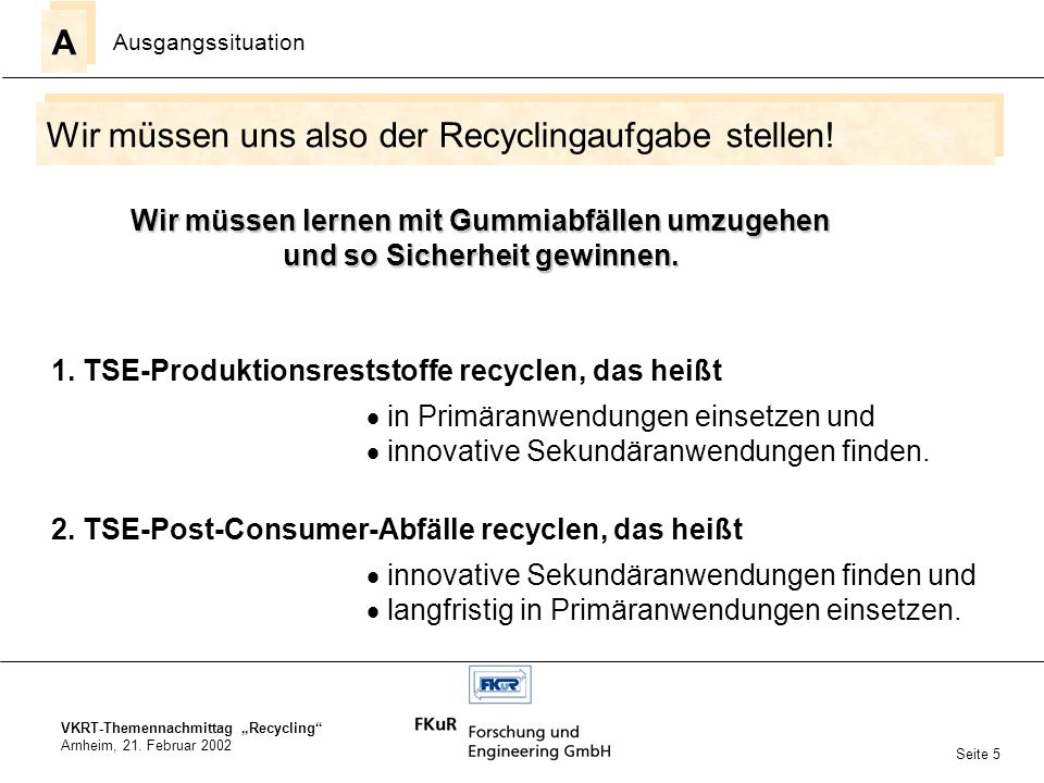 VKRT-Themennachmittag Recycling Arnheim, 21.