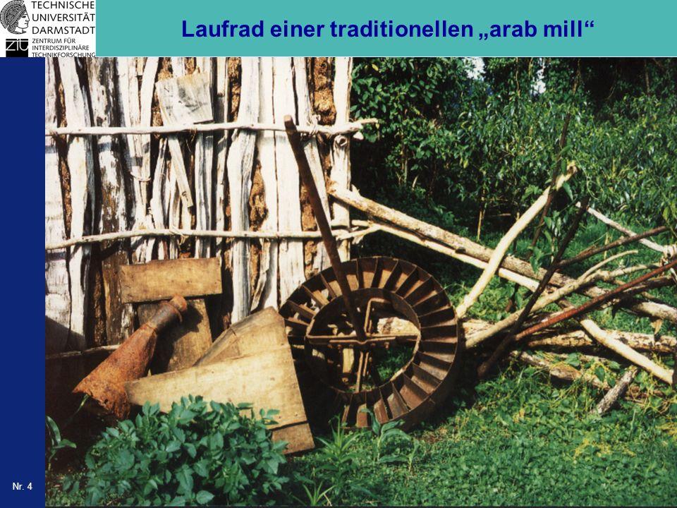 Nr. 4 Laufrad einer traditionellen arab mill