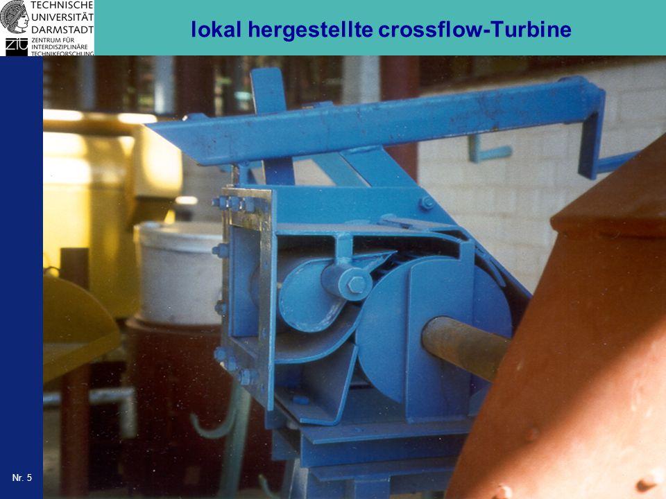 Nr. 5 lokal hergestellte crossflow-Turbine