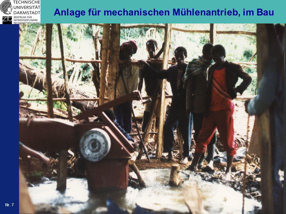 Nr. 7 Anlage für mechanischen Mühlenantrieb, im Bau