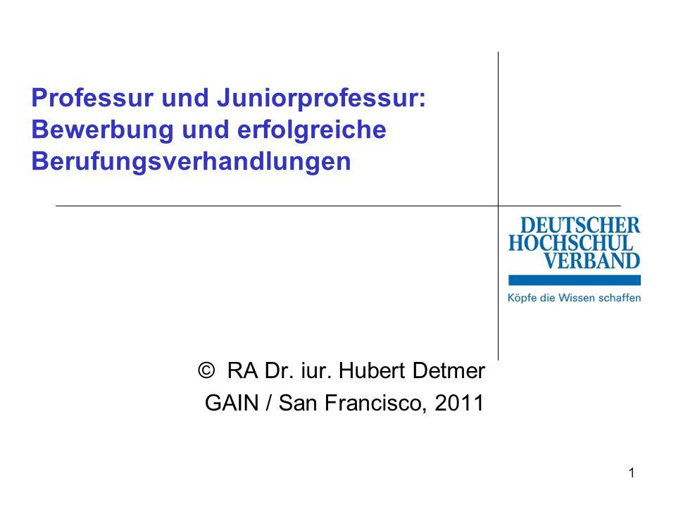 © Dr.Hubert Detmer 2 Berufungspraxis Erstberufung: ca.