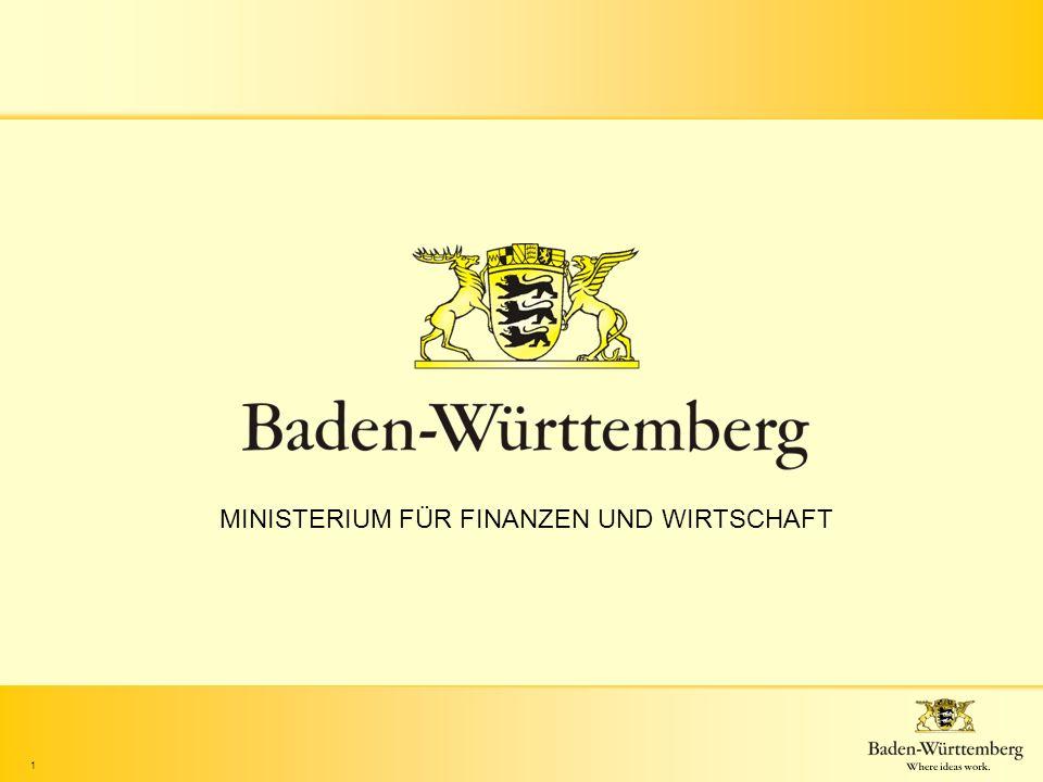 1 MINISTERIUM FÜR FINANZEN UND WIRTSCHAFT