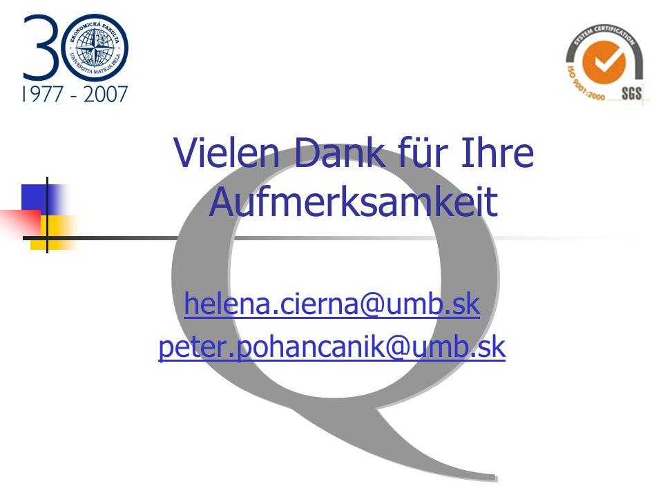 Vielen Dank für Ihre Aufmerksamkeit helena.cierna@umb.sk peter.pohancanik@umb.sk