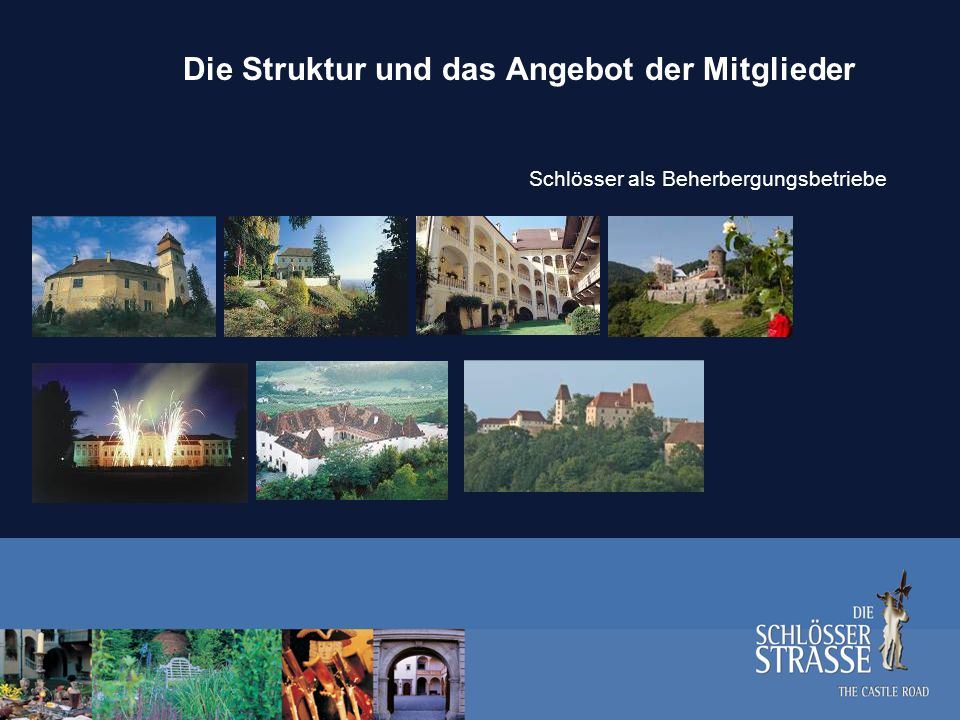 Die Organisationsstruktur Verband Die Schlösserstraße Vereinsvorstand: Vorstitzender:Dr.