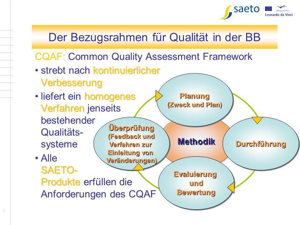8 Kapitel 1 Auswirkungen auf Südtirol Südtirol wird einen nationalen (italienischen) Qualifikationsrahmen benötigen die Qualitätssysteme am CQAF messen (für einzelne Anbieter mit Akkreditierungsverfahren verbunden) evtl.