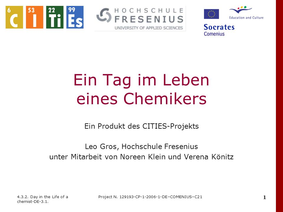 32 4.3.2.Day in the Life of a chemist-DE-3.1. Project N.