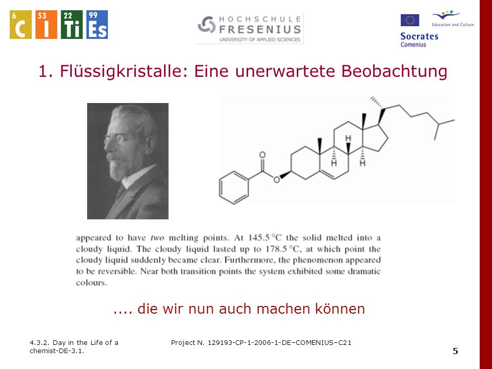 16 4.3.2.Day in the Life of a chemist-DE-3.1. Project N.