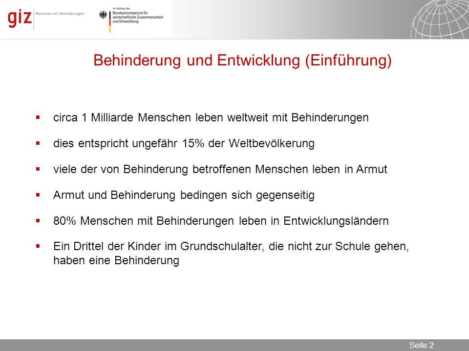 08.11.2013 Seite 2 Seite 2 Seminar Toiletten für Schulen & öffentliche Einrichtungen in EL, Berlin, 08.11.2013 circa 1 Milliarde Menschen leben weltwe