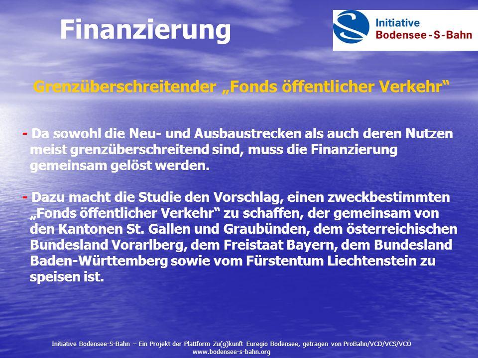 Finanzierung Grenzüberschreitender Fonds öffentlicher Verkehr - Da sowohl die Neu- und Ausbaustrecken als auch deren Nutzen meist grenzüberschreitend