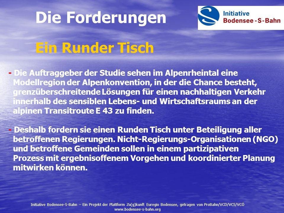 - Die Auftraggeber der Studie sehen im Alpenrheintal eine Modellregion der Alpenkonvention, in der die Chance besteht, grenzüberschreitende Lösungen f
