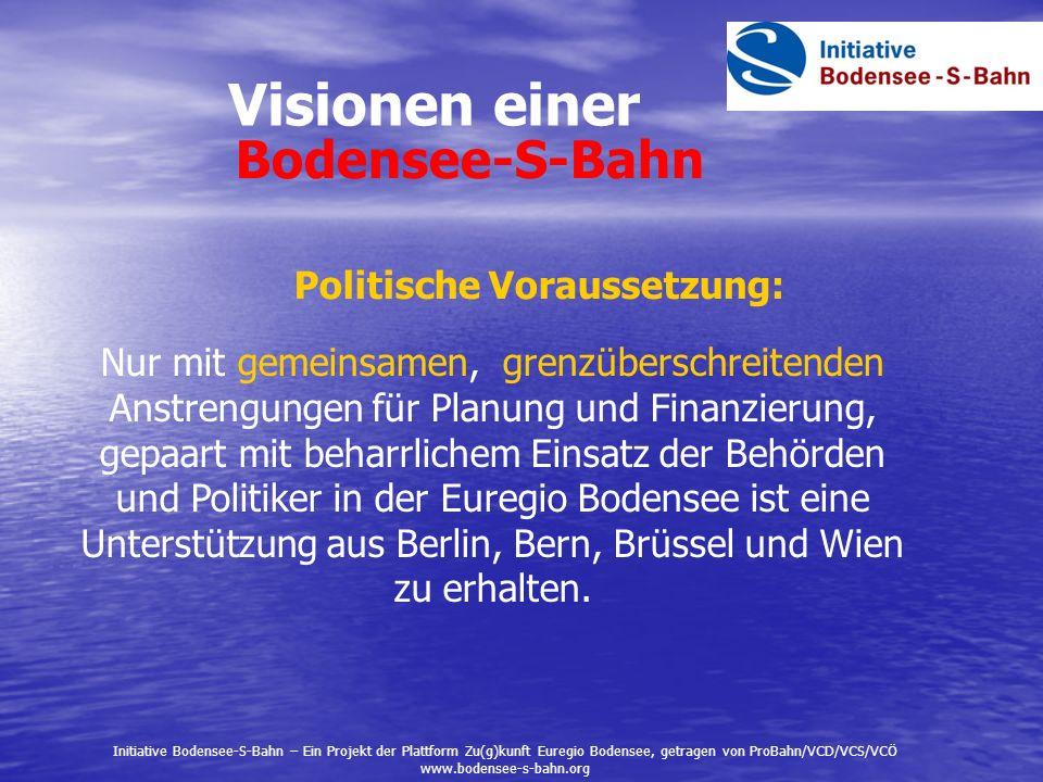 - Elektrifizierung - mehr Haltestellen - mehr Kreuzungsmöglichkeiten - Doppelspurabschnitte Bauliche Maßnahmen Initiative Bodensee-S-Bahn – Ein Projekt der Plattform Zu(g)kunft Euregio Bodensee, getragen von ProBahn/VCD/VCS/VCÖ www.bodensee-s-bahn.org