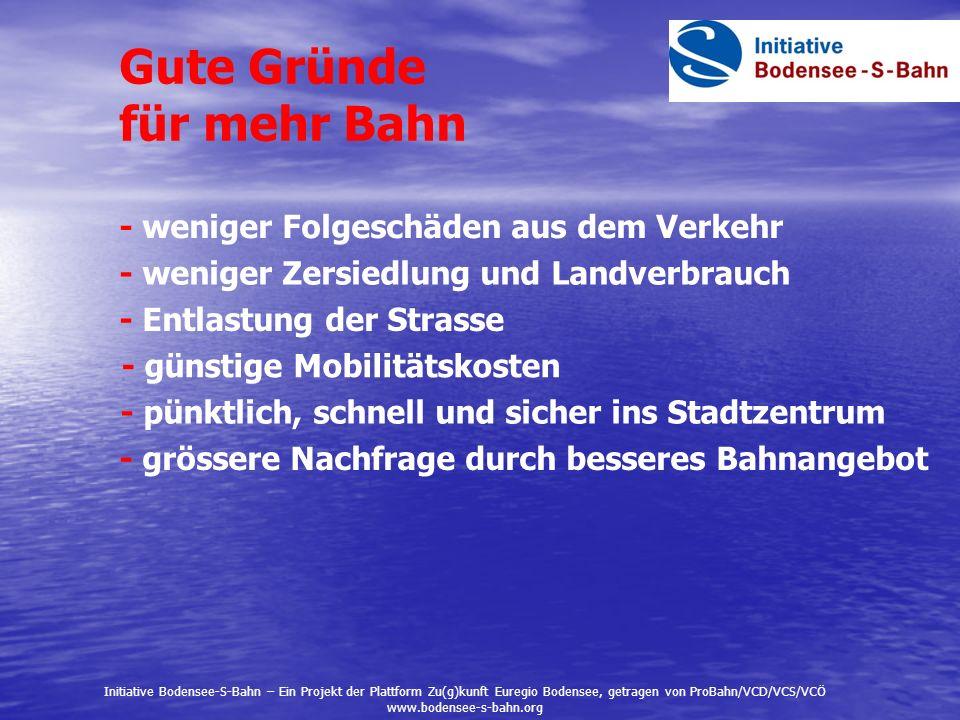 Die Alpenrhein-Bahn-Studie These: Mit neuen Straßen lassen sich die Verkehrsprobleme zwischen Chur und dem Bodensee nicht lösen.