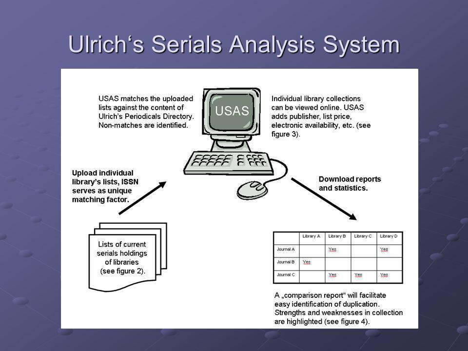Ulrichs Serials Analysis System