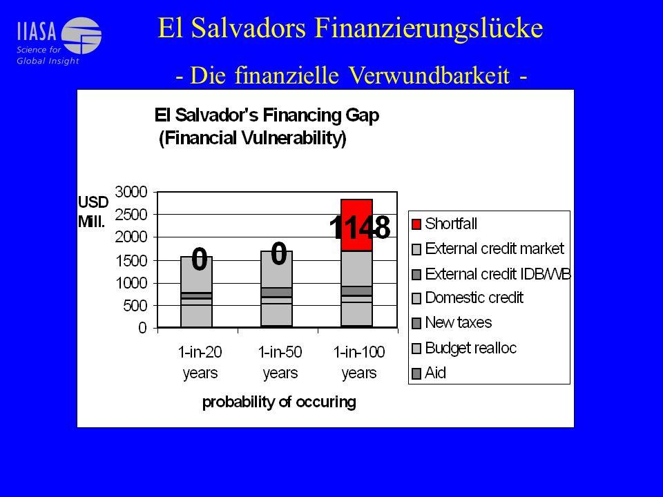 El Salvadors Finanzierungslücke - Die finanzielle Verwundbarkeit -