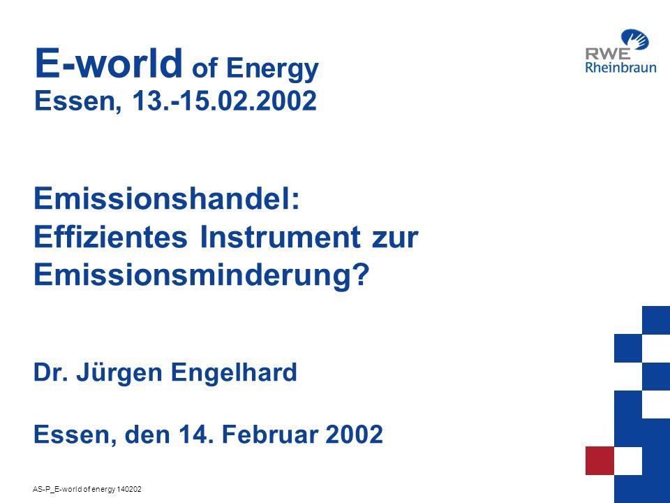 AS-P_E-world of energy 140202 2 Klimaschutz - Ziele für Deutschland 1990 Basis 2005 nationales Ziel 2008/12 Kyoto Ziel Kyoto Gase CO 2 -25,0%-21,0% 100% Kyoto Gase