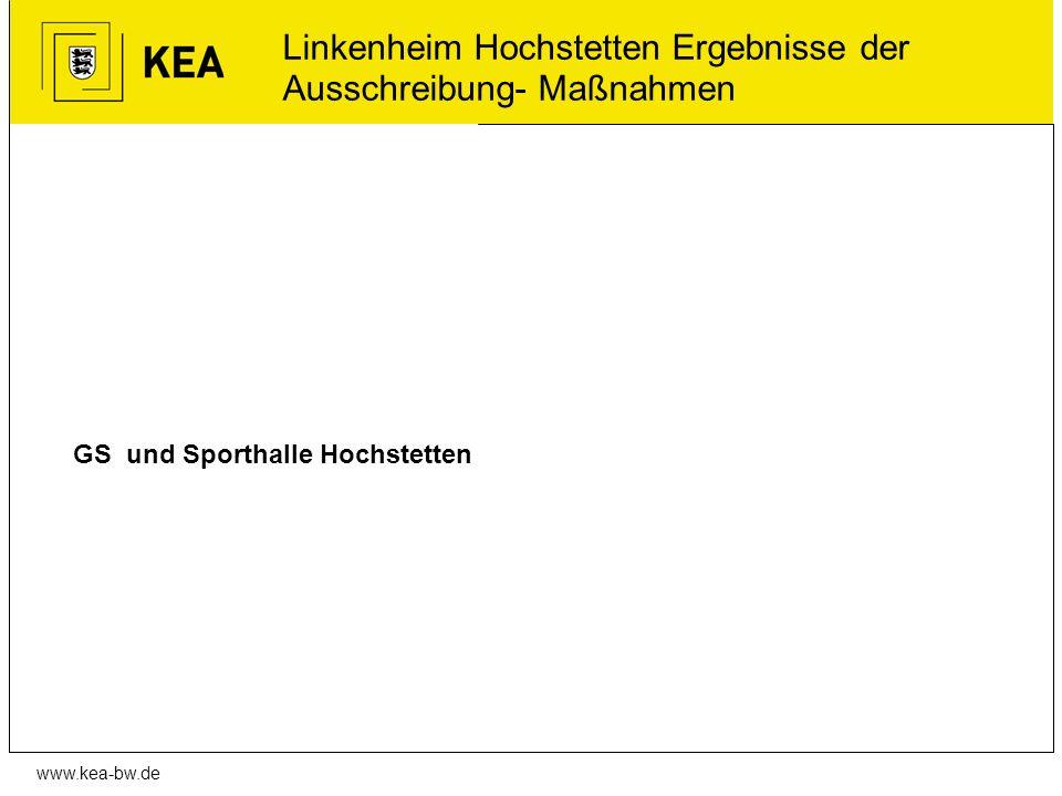 www.kea-bw.de GS und Sporthalle Hochstetten Linkenheim Hochstetten Ergebnisse der Ausschreibung- Maßnahmen