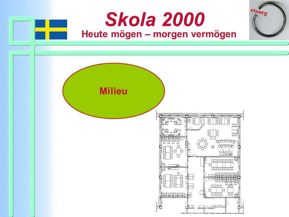 Skola 2000 Heute mögen – morgen vermögen Milieu